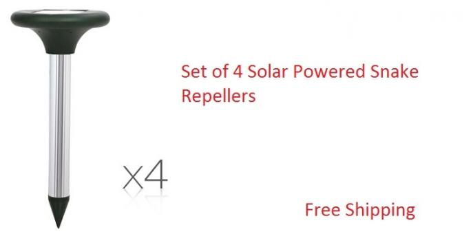 Set of 4 Solar Powered Snake Repellers